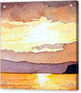 Islay And Cara From Kintyre Scotland Acrylic Print