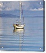 Isle Of Colonsay, Scotland Sailboat On Acrylic Print