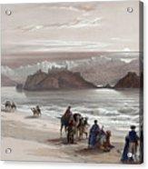 Isle Of Graia Gulf Of Akabah Arabia Petraea Feby 27th 1839 Acrylic Print
