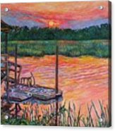 Isle Of Palms Sunset Acrylic Print