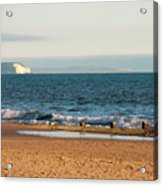 Isle Of Wight As Seen From Bournemouth Beach Acrylic Print