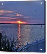 Isle Of Wight Bay Sunset Acrylic Print