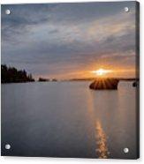 Isle Royale Bell Isle Sunrise  Acrylic Print
