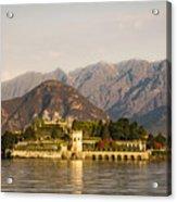 lake Maggiore, Borromean island, Piedmont Italy Acrylic Print