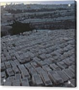 Israel, Jerusalem Mount Of Olives Acrylic Print