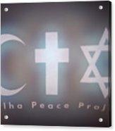 Israel Palestinian Cooperation  Acrylic Print