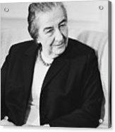 Israel Prime Minister Golda Meir 1973 Acrylic Print