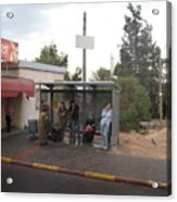 Israeli Bus Stop Acrylic Print