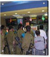 Israeli Soldiers Stop At A Kosher Mcdonald's Acrylic Print