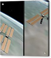 Iss - Gently Cross Your Eyes And Focus On The Middle Image Acrylic Print