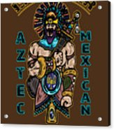 Issachar Aztec Warrior Acrylic Print