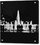 Istanbul Fountain Lights Acrylic Print