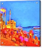 Istanbul Pop Art Acrylic Print