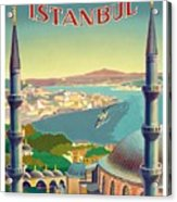 Istanbul Turkey 1939 World Travel Poster Acrylic Print