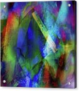 It Is About Time Intersecting Wondrous Cross Acrylic Print