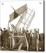 It Was A Good Landing The Pilot Walked Away  Twin Wing Aircraft  Circa 1909 Acrylic Print