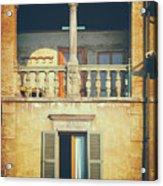 Italian Arched Balcony Acrylic Print