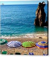 Italian Beach Scene Acrylic Print