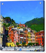 Italian Beachside  Acrylic Print