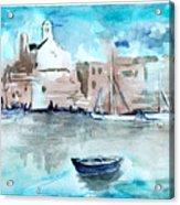 Italian Coast  Acrylic Print by Alexandra-Emily Kokova
