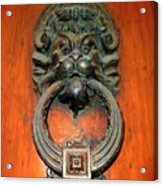 Italian Door Knocker Acrylic Print by Jen White