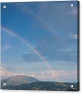 Italian Double Rainbow Acrylic Print