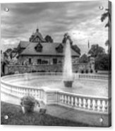 Italian Fountain Maymont B And W Acrylic Print