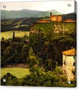 Italian Castle And Landscape Acrylic Print