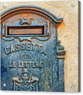Italian Mailbox Acrylic Print