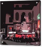 Italian Restaurant At Night Acrylic Print
