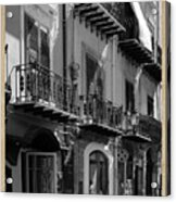 Italian Street In Black And White Acrylic Print by Stefano Senise