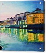 Italian Sunset Acrylic Print by Terry Honstead