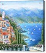 Italian Village By The Sea Acrylic Print