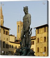 Italy, Florence, Neptune Fountain Acrylic Print by Sisse Brimberg & Cotton Coulson