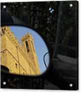 Italy, Florence, Reflection In Mirror Acrylic Print