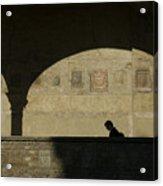 Italy, Tuscany, Florence, A Man Walks Acrylic Print by Keenpress