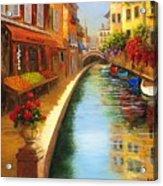 Italys Canal Street  Acrylic Print