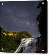 Ithaca Falls By Moonlight Acrylic Print