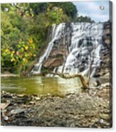 Ithaca Falls In Early Autumn Acrylic Print