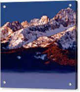 Its A New Day First Light Sawtooth Range Acrylic Print