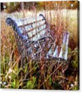 It's Been Awhile - Park Bench Acrylic Print