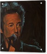 It's Boss Time - Bruce Springsteen Portrait Acrylic Print
