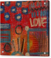It's Love Acrylic Print