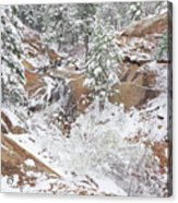 It's Mid May. We're Fast Approaching The End Of Our Snow Season.  Acrylic Print