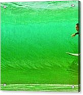 It's Not Easy Being Green Acrylic Print