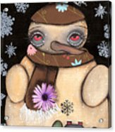 It's Snowing Acrylic Print by  Abril Andrade Griffith
