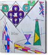 It's Wine O'clock Text Acrylic Print