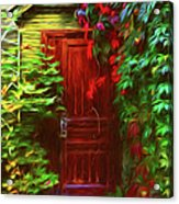 Ivy Surrounded Old Outhouse Acrylic Print