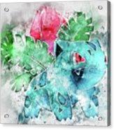 Pokemon Ivysaur Abstract Portrait - By Diana Van Acrylic Print