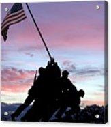 Iwo Jima Memorial In Arlington Virginia Acrylic Print by Brendan Reals